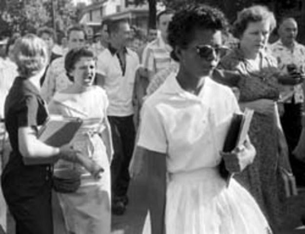 Little Rock Central High School Desegregated