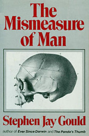 Gould receives awards for his book, The Mismeasure of Man