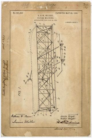 Wright Brothers Aeroplane Patent