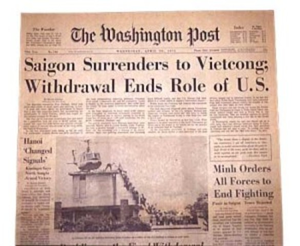 Last Americans flee from South Vietnam