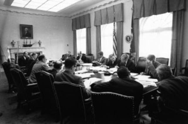 "Kennedy Orders Naval ""Quarantine"" On Cuba During Cuban Missle Crisis"