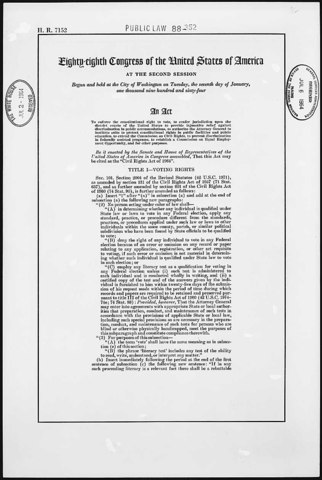Civil RIghts Act of 1964 Is Enacted
