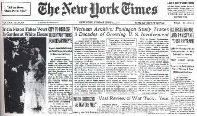 The Pentagon Papers published