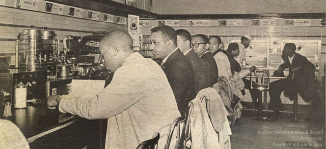 Sit-in movement for civil rights begins.