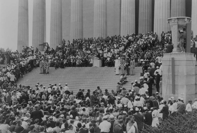 Civil rights march in Washington, D.C.