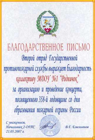Достижения коллектива 2007 год
