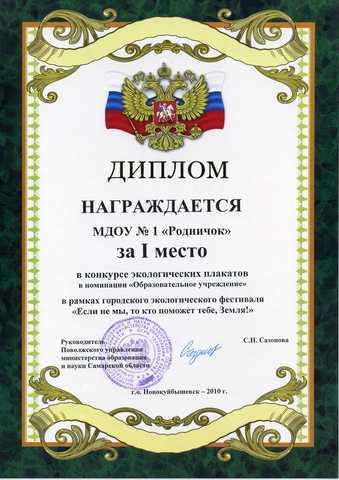 Достижения коллектива 2010 год