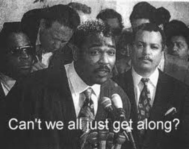 """""""Can't we all just get along?"""" Rodney King"""
