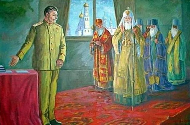 Встреча Сталина с главными митрополитами РПЦ