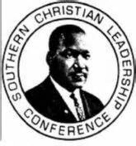 SCLC is formed in part by Martin Luther King Jr.