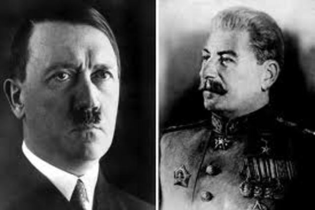 1941 Hitler breaks Pact with Stalin's Russia and invades -USSR which now joins England in fighting the Germans