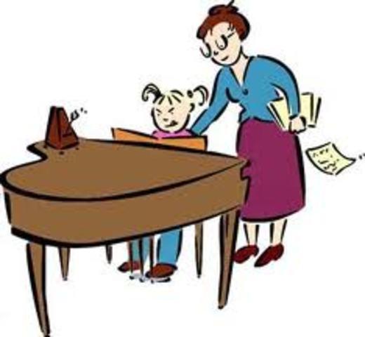 Cuando yo tenía quince años Cuando yo tenía catorce, yo tomé lecciones de piano, yo dibujía, y yo brincaba.
