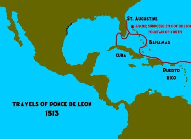 Ponce de Leon lands in Pascua Florida