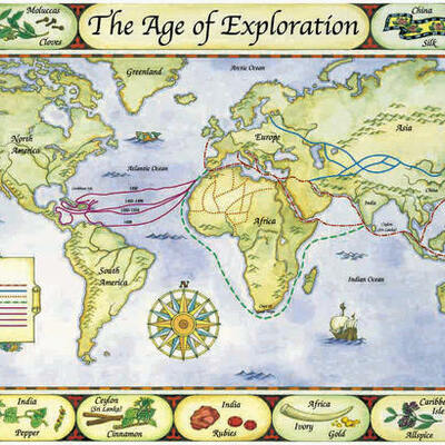 Early Explorers in North America timeline