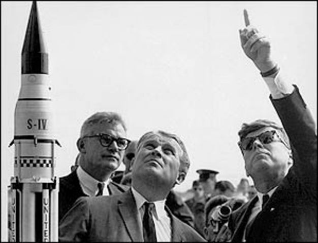 Kennedy Enters US Into Spacerace