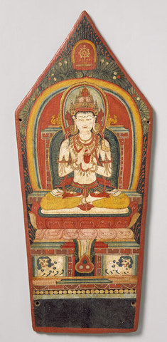 Panel from a Buddhist ritual crown