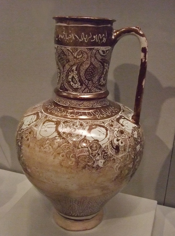 Large fritware pitcher Western Iran
