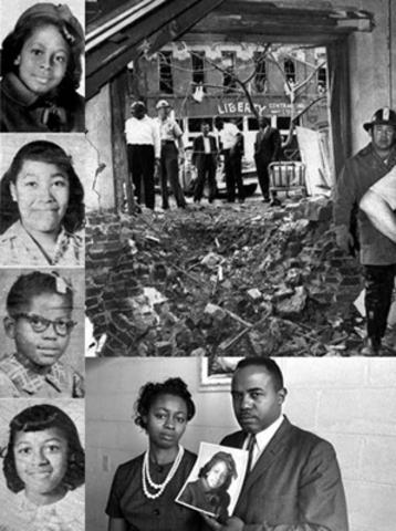 4 Black Girls killed by a bomb at 16th St, Baptist Church