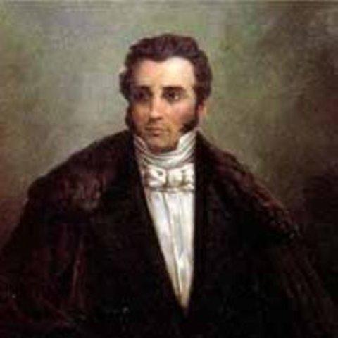 Joaquín Mosquera  presidente y vicepresidente Domingo Caicedo