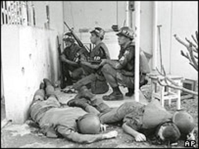 Tet offensive in Vietnam.