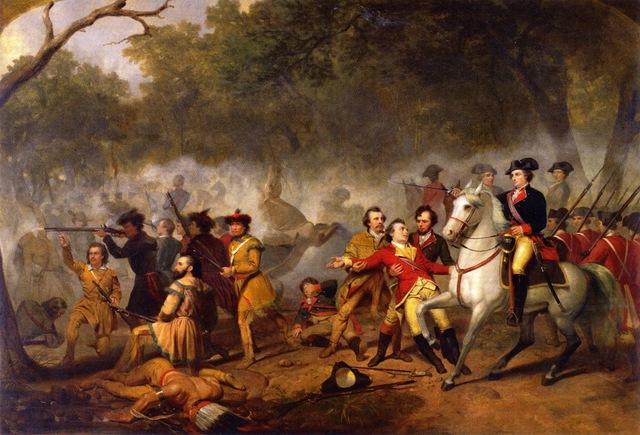 Général Washington ( Treize Colonies) attaque Fort Duquesne