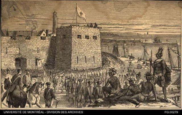 Prise d'Oswego par Montcalm ( général de la NF)