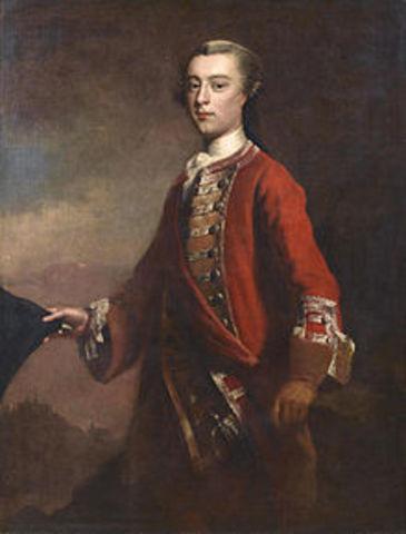 Le général Wolfe est nommé chef des armées britannique en Amérique du Nord