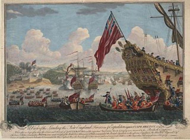 Renforts britanniques  apportés par bateaux