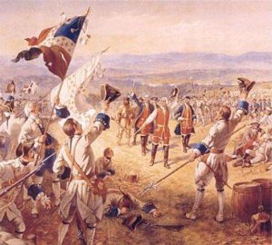 Victoire de Montcalm au fort Carillon contre une armée 4W x plus nombreuses- Première bataille impliquant les armées officielles.
