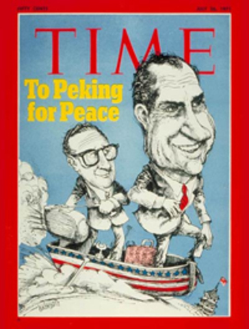 Nixon visits China and the Soviet Union.