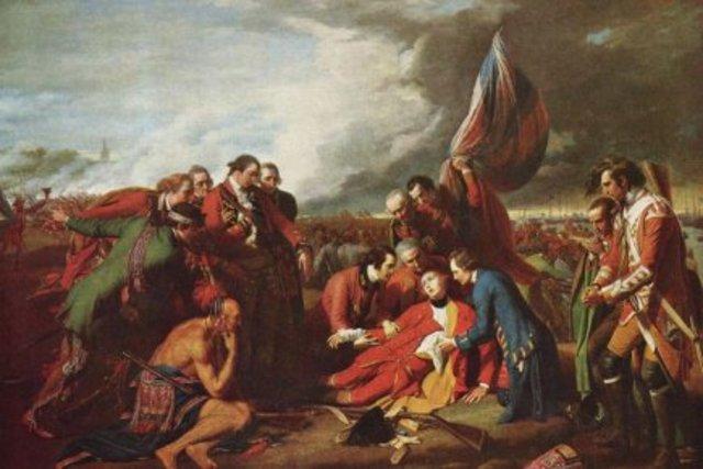 Mort de Montcalm et de Wolfe