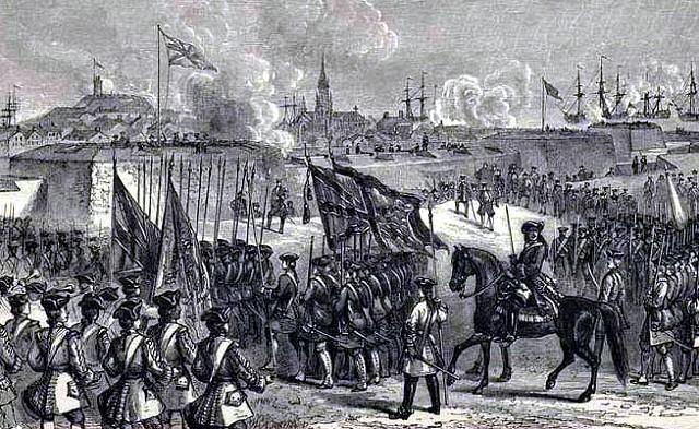 Siège de  Louisbourg, forteresse française