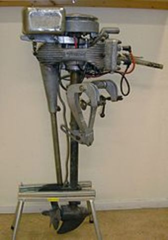 outboard motor.