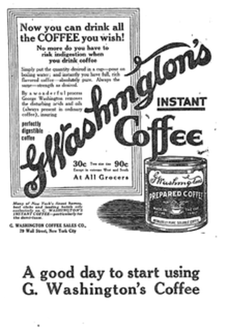 George Constant Louis Washington manufactuers instant coffee