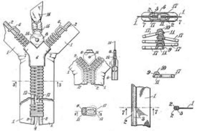 Gideon Sundback invents zipper