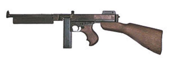 John Thompson invents submachine gun