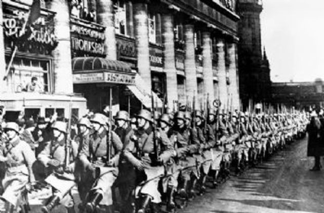 Germany remilitarizes the Rhineland