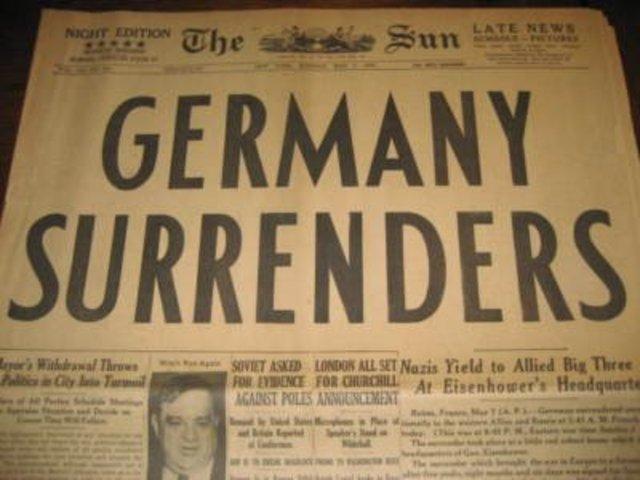 Germany surrenders.