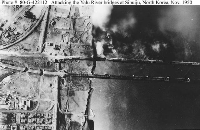 Washington authorizes for bombing on Korean power plants near Yalu river