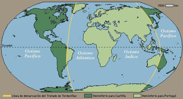 Firma del Tratado de Tordesillas