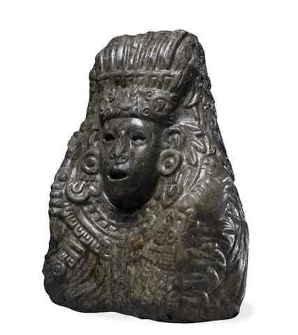 Bust of Quetzalcoatl at British Museum of Art