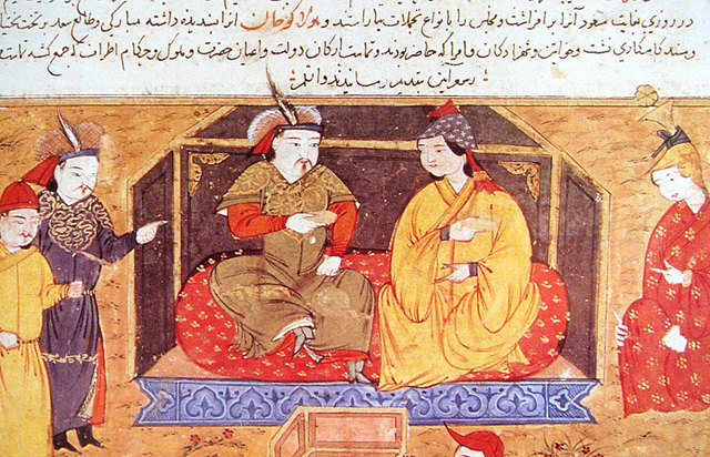 Halagu Khan and his wife