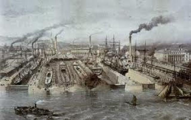 Shipyard working