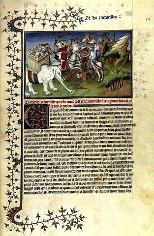 """Folio 54r from a facsimile of """"Le devisament la dou monde"""""""