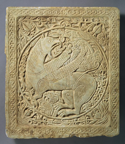 Panel with a Griffin, Byzantine