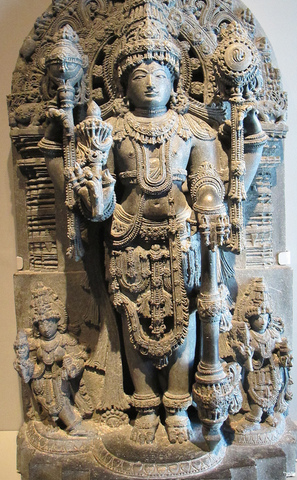 The Hindu diety Vishnu-India