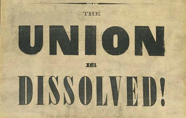 South Carolina breaks away from the union