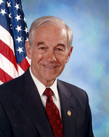 Ron Paul sets a record by raising over six million dollars online in just 24 hours, an event known as a money bomb.