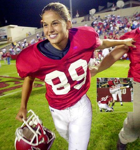 Ashley Martin became first woman to play and score in an NCAA Division I American football game
