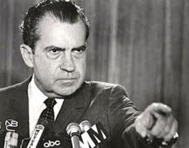 Richard Nixo was President